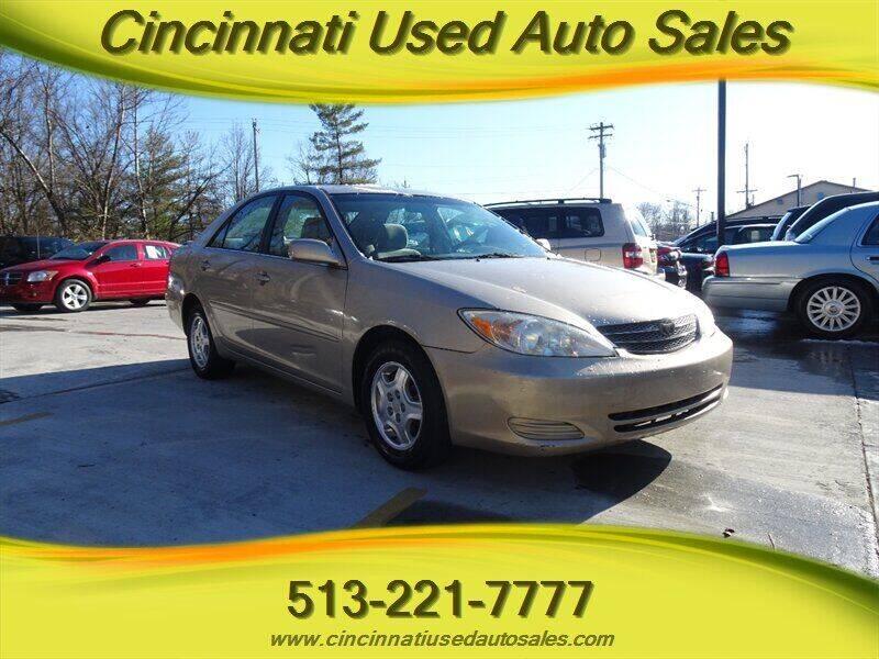 2003 Toyota Camry for sale at Cincinnati Used Auto Sales in Cincinnati OH