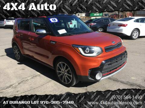 2018 Kia Soul for sale at 4X4 Auto Sales in Durango CO