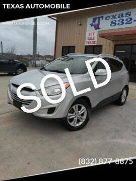 2012 Hyundai Tucson for sale at TEXAS AUTOMOBILE in Houston TX