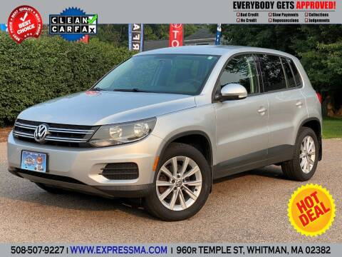 2014 Volkswagen Tiguan for sale at Auto Sales Express in Whitman MA
