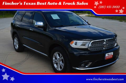 2017 Dodge Durango for sale at Fincher's Texas Best Auto & Truck Sales in Tomball TX