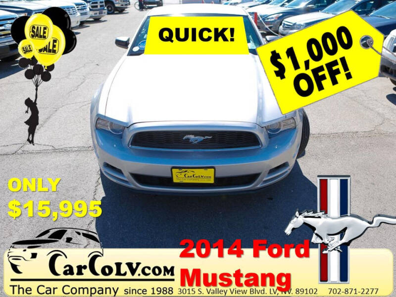 2014 Ford Mustang for sale at The Car Company in Las Vegas NV
