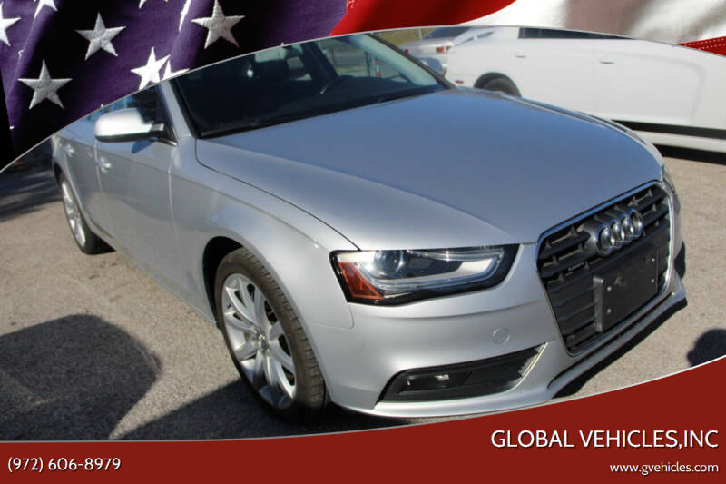 2013 Audi A4 for sale at Global Vehicles,Inc in Irving TX