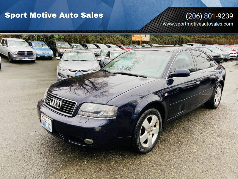 2002 Audi A6 for sale at Sport Motive Auto Sales in Seattle WA