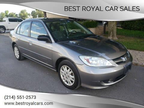 2004 Honda Civic for sale at Best Royal Car Sales in Dallas TX