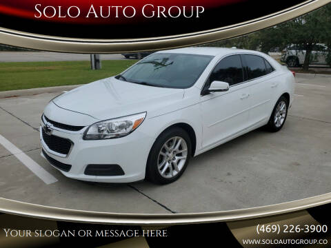 2016 Chevrolet Malibu Limited for sale at Solo Auto Group in Mckinney TX