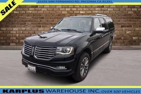 2017 Lincoln Navigator L for sale at Karplus Warehouse in Pacoima CA