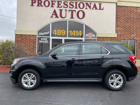 2016 Chevrolet Equinox for sale at Professional Auto Sales & Service in Fort Wayne IN