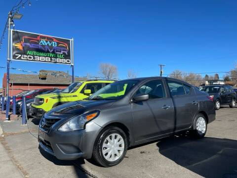 2018 Nissan Versa for sale at AWD Denver Automotive LLC in Englewood CO