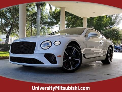2021 Bentley Continental for sale at University Mitsubishi in Davie FL