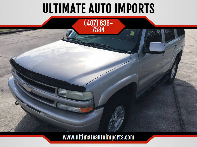 2005 Chevrolet Tahoe for sale at ULTIMATE AUTO IMPORTS in Longwood FL