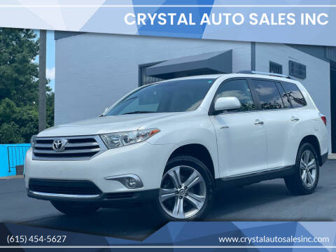 2011 Toyota Highlander for sale at Crystal Auto Sales Inc in Nashville TN