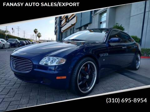2008 Maserati Quattroporte for sale at FANASY AUTO SALES/EXPORT in Yorba Linda CA