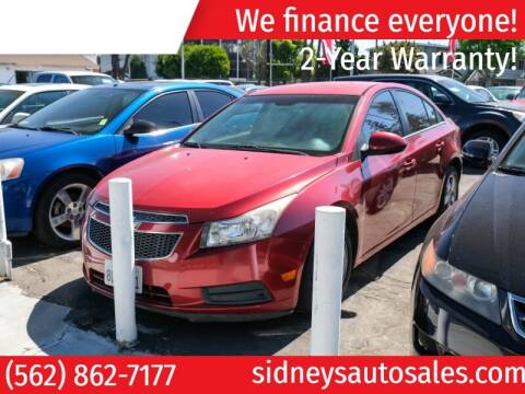 2012 Chevrolet Cruze for sale at Sidney Auto Sales in Downey CA