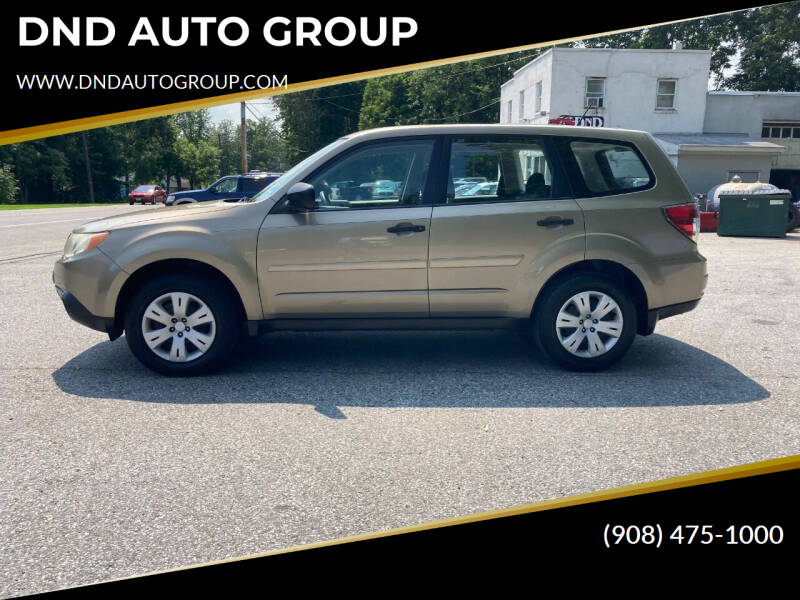 2009 Subaru Forester for sale at DND AUTO GROUP in Belvidere NJ