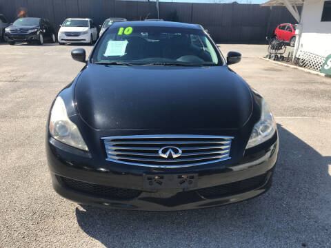 2010 Infiniti G37 Convertible for sale at SOUTHWAY MOTORS in Houston TX