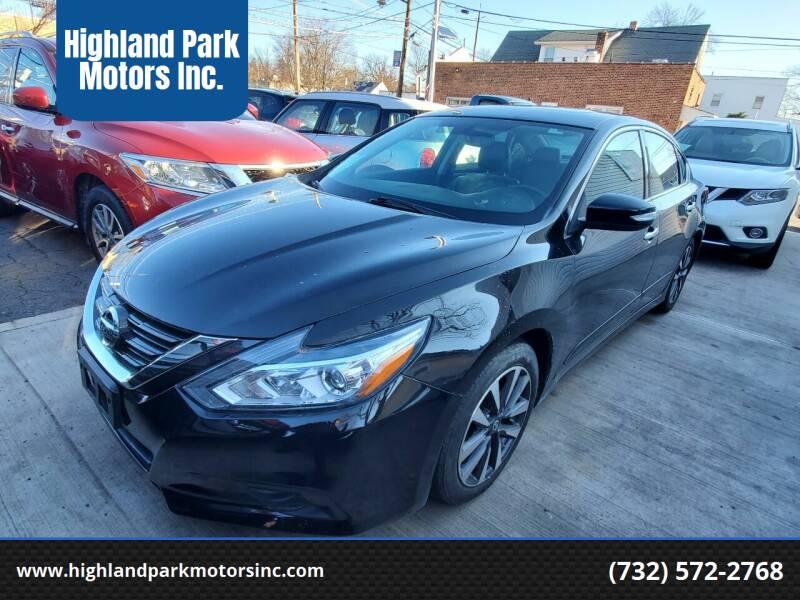 2016 Nissan Altima for sale at Highland Park Motors Inc. in Highland Park NJ