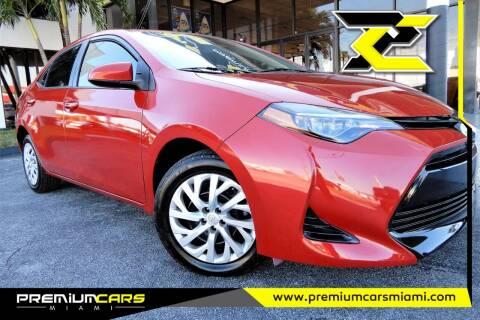 2017 Toyota Corolla for sale at Premium Cars of Miami in Miami FL