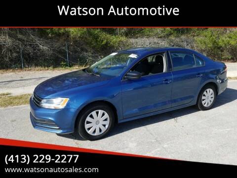 2016 Volkswagen Jetta for sale at Watson Automotive in Sheffield MA