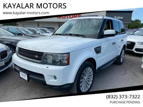 2011 Land Rover Range Rover Sport for sale at KAYALAR MOTORS in Houston TX