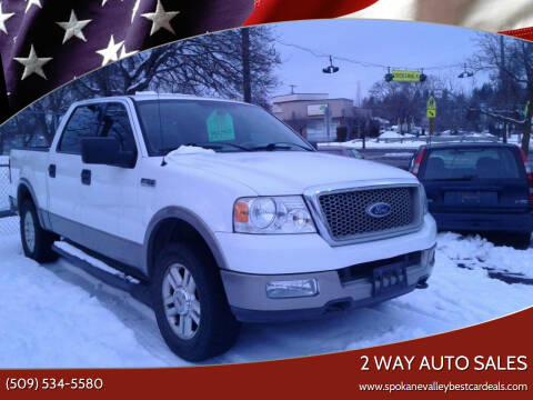 2004 Ford F-150 for sale at 2 Way Auto Sales in Spokane Valley WA