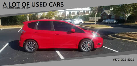 2012 Honda Fit for sale at A LOT OF USED CARS in Suwanee GA