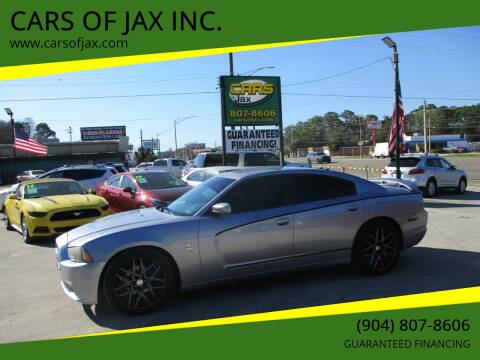 2013 Dodge Charger for sale at CARS OF JAX INC. in Jacksonville FL