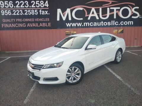 2017 Chevrolet Impala for sale at MC Autos LLC in Pharr TX