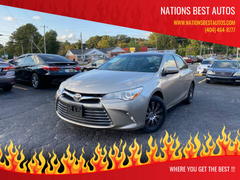 2015 Toyota Camry for sale at Nations Best Autos in Decatur GA