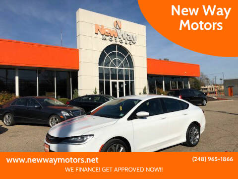 2016 Chrysler 200 for sale at New Way Motors in Ferndale MI