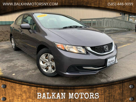 2014 Honda Civic for sale at BALKAN MOTORS in East Rochester NY