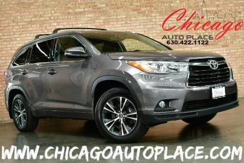 2016 Toyota Highlander for sale at Chicago Auto Place in Bensenville IL