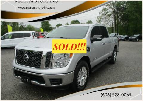 2017 Nissan Titan for sale at Mark Motors Inc in Gray KY