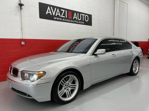 2003 BMW 7 Series for sale at AVAZI AUTO GROUP LLC in Gaithersburg MD