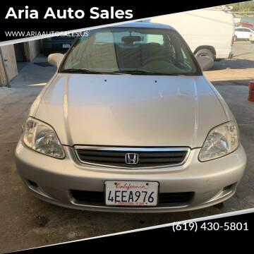 1999 Honda Civic for sale at Aria Auto Sales in El Cajon CA