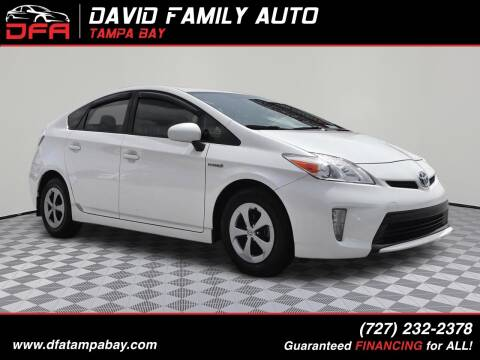 2012 Toyota Prius for sale at David Family Auto in New Port Richey FL