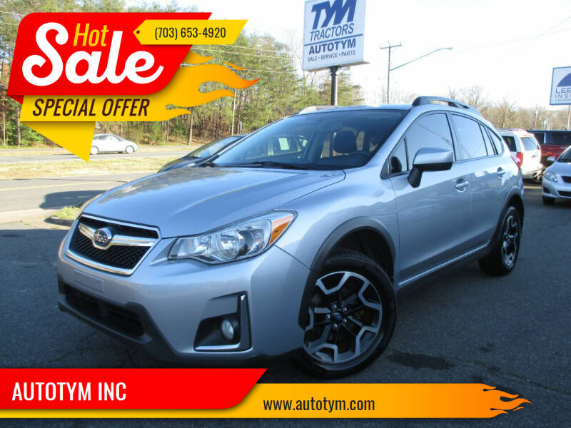 2016 Subaru Crosstrek for sale at AUTOTYM INC in Fredericksburg VA