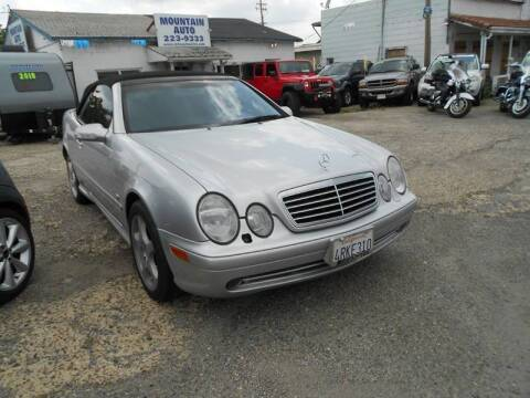 2001 Mercedes-Benz CLK for sale at Mountain Auto in Jackson CA