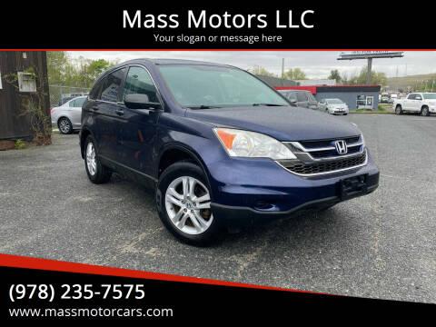 2010 Honda CR-V for sale at Mass Motors LLC in Worcester MA