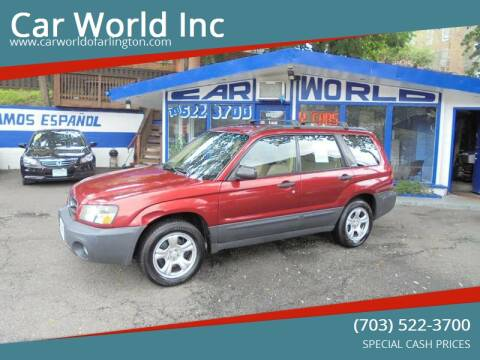 2003 Subaru Forester for sale at Car World Inc in Arlington VA