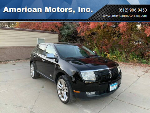 2010 Lincoln MKX for sale at American Motors, Inc. in Farmington MN