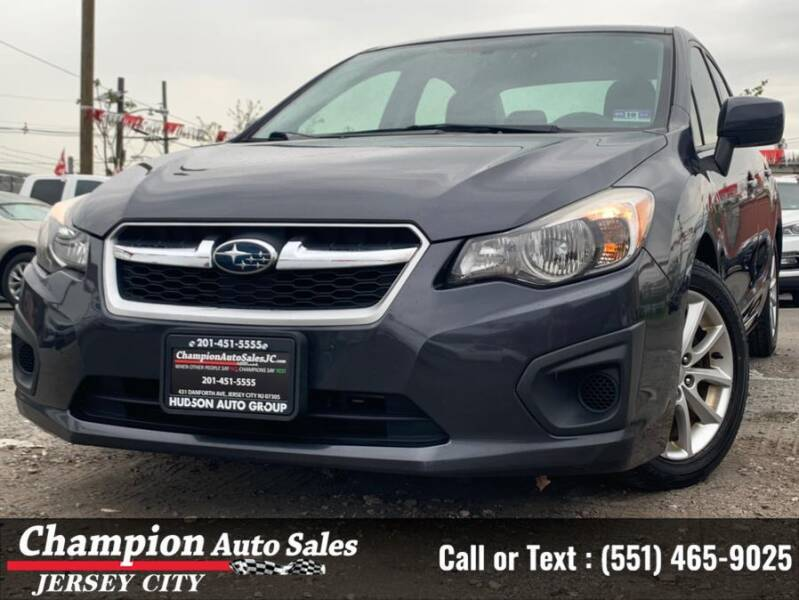 2014 Subaru Impreza for sale at CHAMPION AUTO SALES OF JERSEY CITY in Jersey City NJ