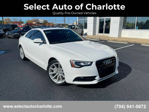 2015 Audi A5 for sale at Select Auto of Charlotte in Matthews NC