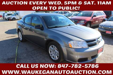 2012 Dodge Avenger for sale at Waukegan Auto Auction in Waukegan IL