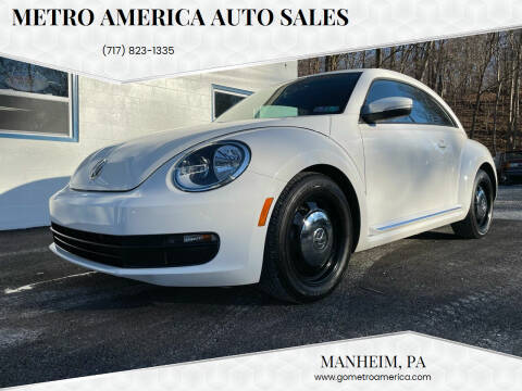 2012 Volkswagen Beetle for sale at METRO AMERICA AUTO SALES of Manheim in Manheim PA