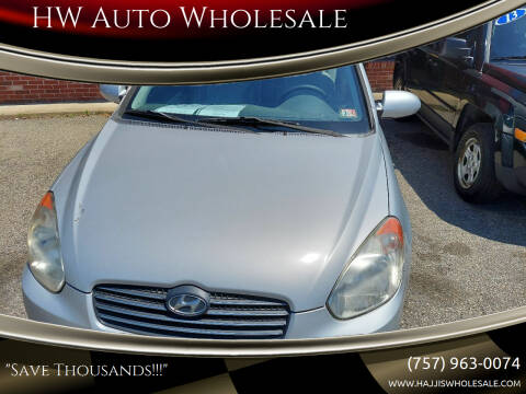 2008 Hyundai Accent for sale at HW Auto Wholesale in Norfolk VA