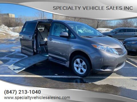 2016 Toyota Sienna for sale at SPECIALTY VEHICLE SALES INC in Skokie IL
