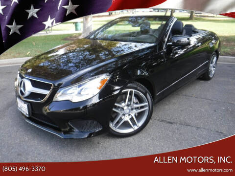 2014 Mercedes-Benz E-Class for sale at Allen Motors, Inc. in Thousand Oaks CA