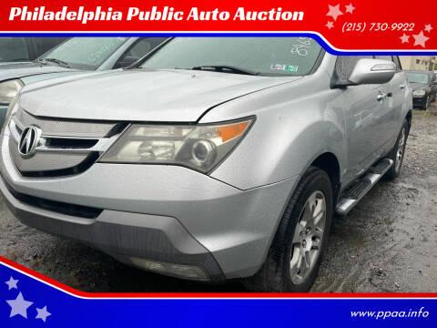 2007 Acura MDX for sale at Philadelphia Public Auto Auction in Philadelphia PA