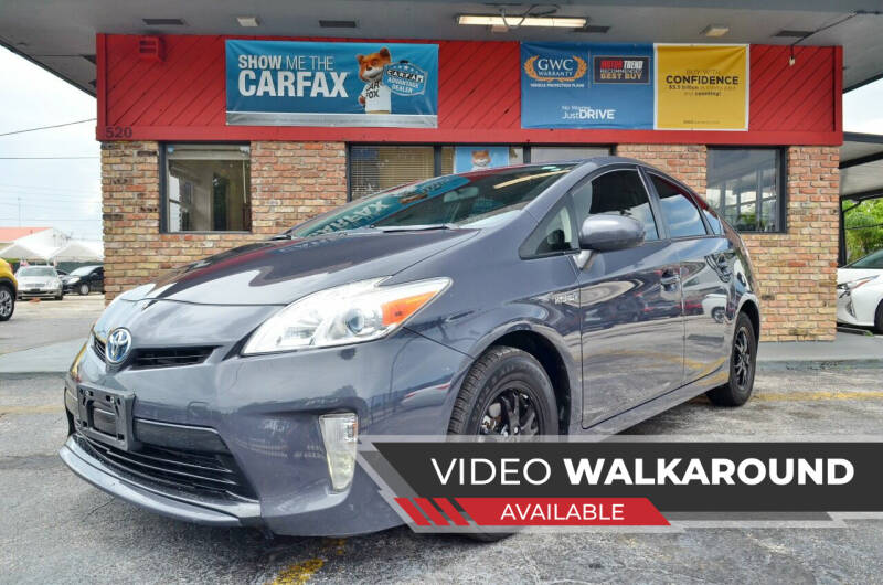 2012 Toyota Prius for sale at ALWAYSSOLD123 INC in Fort Lauderdale FL